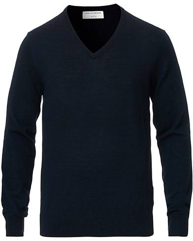 Tiger of Sweden Rael V-Neck Pullover Navy