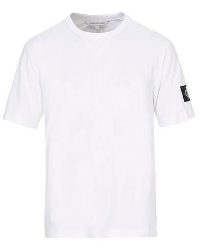 Image of Calvin Klein Monogram Sleeve Badge Tee Bright White