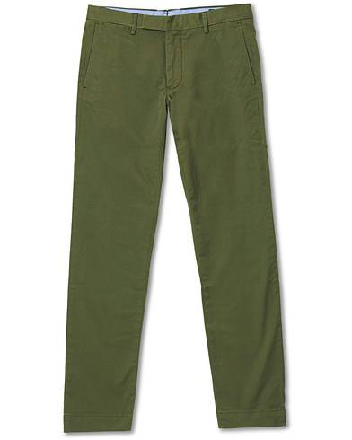 Image of Ralph Lauren Tailord Slim Fit Hudson Chino Army Olive