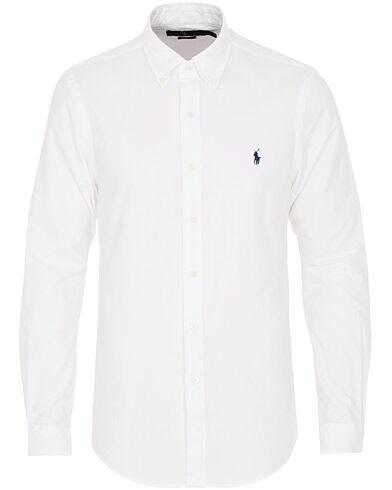 Image of Ralph Lauren Slim Fit Flannel Shirt White