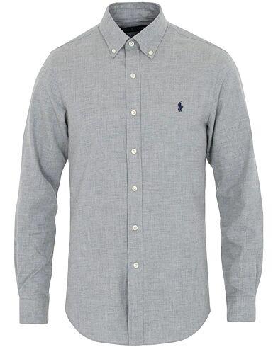 Image of Ralph Lauren Slim Fit Flannel Shirt Grey
