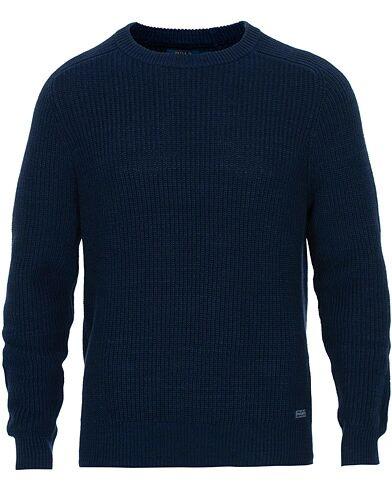 Ralph Lauren Cotton Knitted Sweater Newport Navy