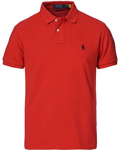 Image of Ralph Lauren Custom Slim Fit Polo Red