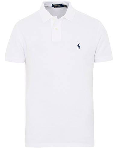 Image of Ralph Lauren Slim Fit Pima Cotton Polo Polo White