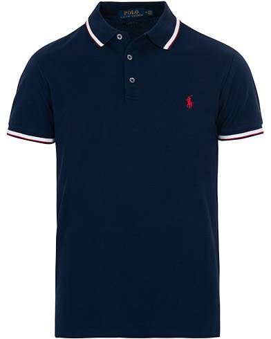 Image of Ralph Lauren Slim Fit Stretch Shirt French Navy