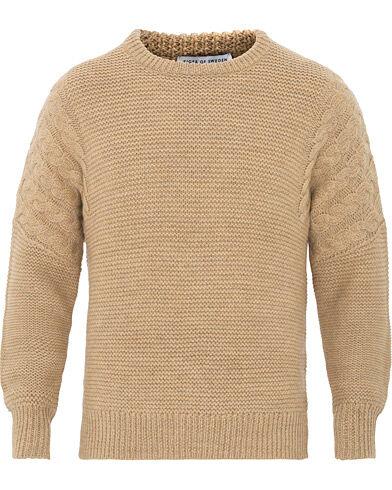 Tiger of Sweden Pike Wool Structured Knitted Sweatshirt Beige