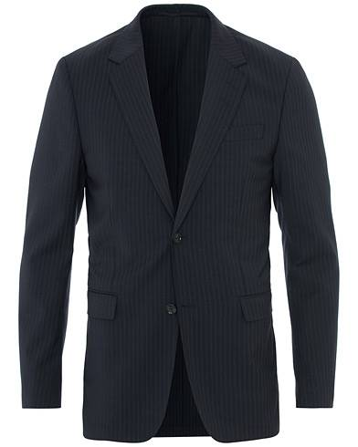 Tiger of Sweden Jarl Unlined Wool Pinstripe Suit Blazer Navy