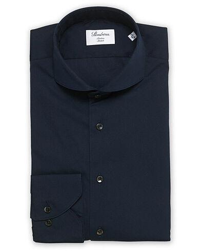 Stenströms Slimline Full Stretch Fullspread Shirt Navy