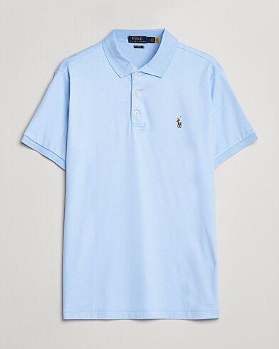 Image of Ralph Lauren Slim Fit Pima Cotton Polo Elite Blue
