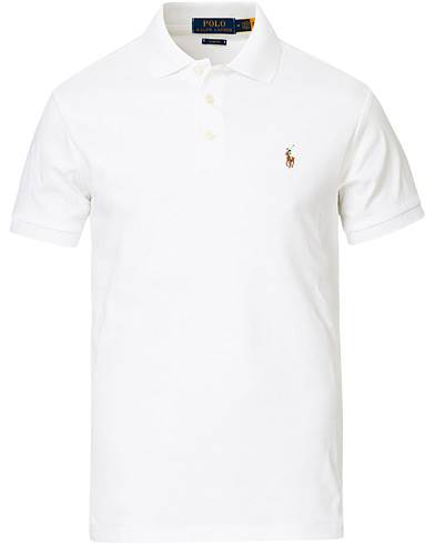 Image of Ralph Lauren Slim Fit Pima Cotton Polo White