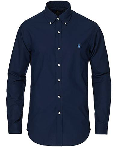 Ralph Lauren Slim Fit Shirt Poplin Newport Navy