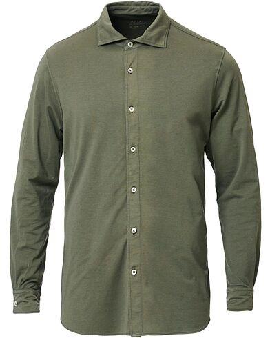 Altea Cotton Stretch Jersey Shirt Military Green