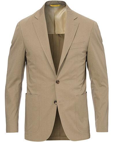 Canali Cotton Stretch Patch Pocket Blazer Khaki