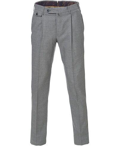 PT01 Gentleman Fit Pleated Wool Trousers Light Grey