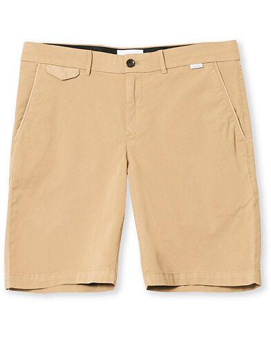Image of Calvin Klein Slim Fit Garment Dyed Shorts Beige