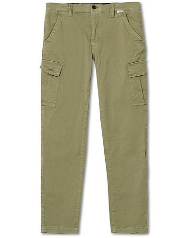 Image of Calvin Klein Slim Fit Garment Dyed Cargo Pants Delta Green