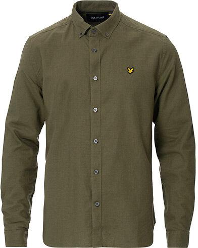 Lyle & Scott Linen/Cotton Shirt Green