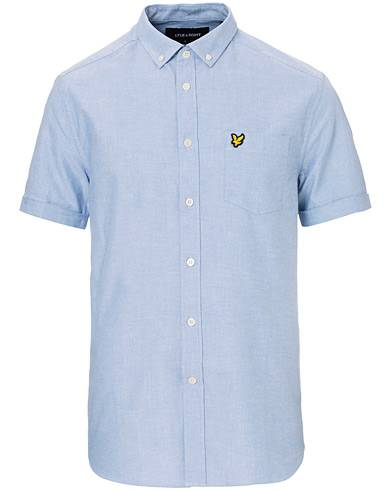 Lyle & Scott Oxford Short Sleeve Shirt Riviera Blue