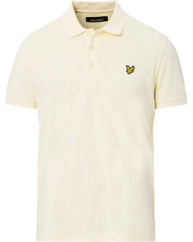 Lyle & Scott Plain Pique Polo Shirt Butter Cream