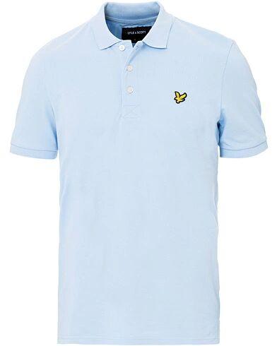Lyle & Scott Plain Pique Polo Shirt Pool Blue