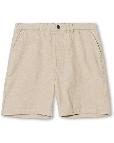 Lyle & Scott Cotton/Linen Shorts Stone
