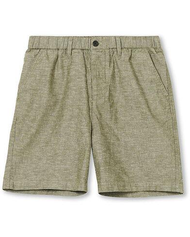 Lyle & Scott Cotton/Linen Shorts Green