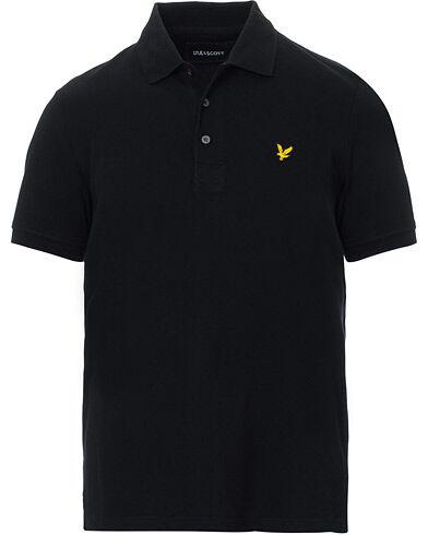 Lyle & Scott Plain Pique Polo Shirt Jet Black