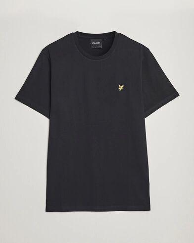Lyle & Scott Plain Crew Neck Cotton T-Shirt Jet Black