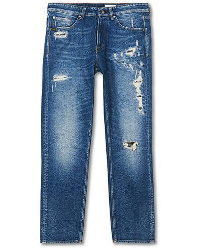 Tiger of Sweden Jeans Rex Stretch Organic Cotton Jeans Destroyed Blue