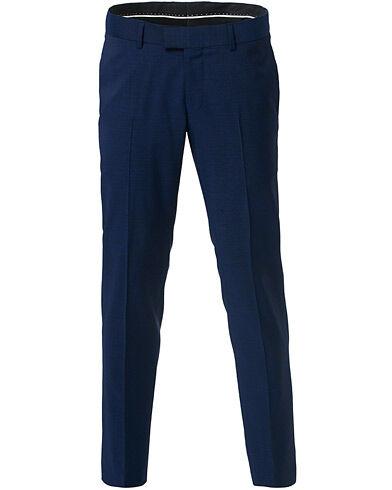 Tiger of Sweden Tordon Wool Suit Trousers Deep Ocean Blue