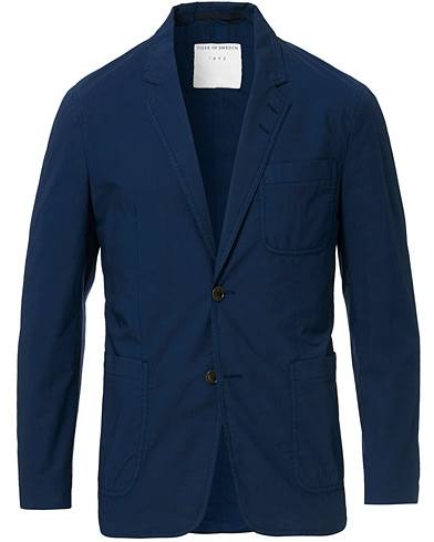 Tiger of Sweden Jake Garment Dyed Cotton Blazer Navy