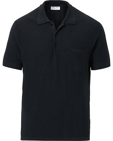 Tiger of Sweden Poplar Knitted Washed Polo Black