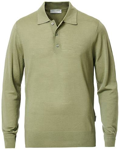 Tiger of Sweden Newton Knitted Long Sleeve Polo Caraway Green