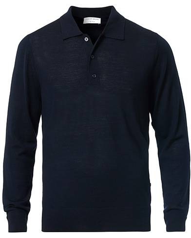Tiger of Sweden Newton Knitted Long Sleeve Polo Navy