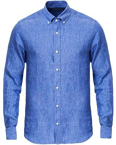 Tiger of Sweden Fenald Button Down Linen Shirt Dust Blue