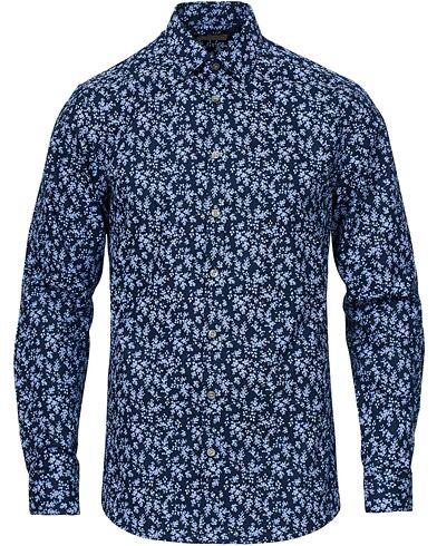 Tiger of Sweden Ferene Printed Flower Shirt Navy