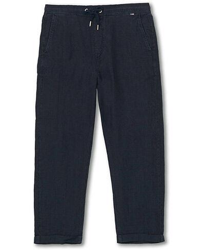 Lexington Hugh Linen Trousers Dark Blue