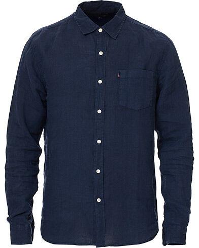 Lexington Ryan Linen Shirt Dark Blue