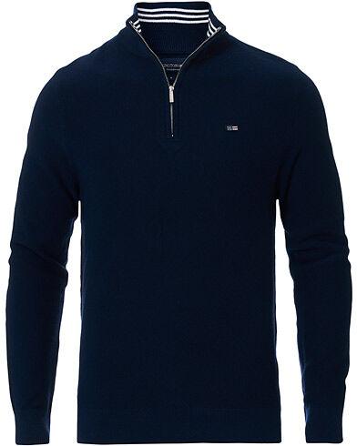 Lexington Clay Half Zip Sweater Dark Blue
