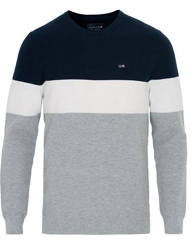 Lexington Grayham Block Striped Sweater Blue/White/Grey