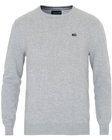 Lexington Bradley Crew Neck Sweater Grey Melange