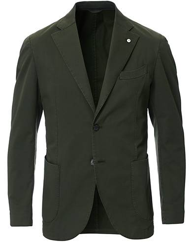 L.B.M. 1911 Jack Regular Fit Cotton Stretch Blazer Dark Green