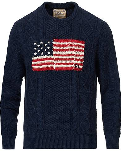 Ralph Lauren Knitted Fisherman Flag Sweater Navy