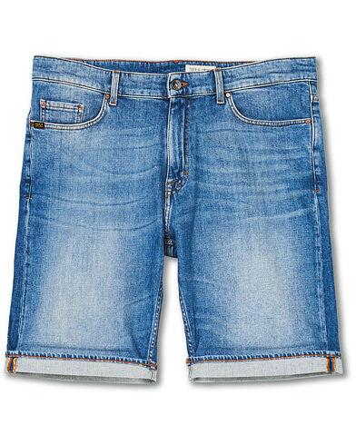 Tiger of Sweden Jeans Ash Organic Cotton Stretch Denim Shorts Mid Blue