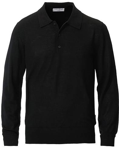 Tiger of Sweden Newton Extra Fine Merino Knitted Polo Black