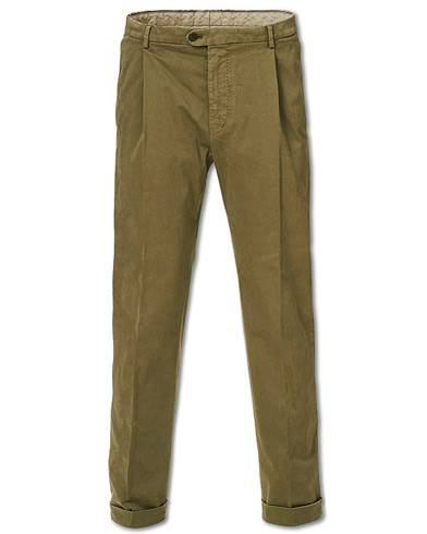 Tiger of Sweden Trevor Turn Up Pleated Chinos Army Green