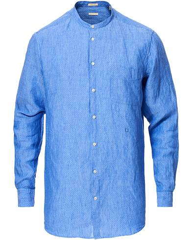 Massimo Alba Noto Mandarin Collar Shirt Blue
