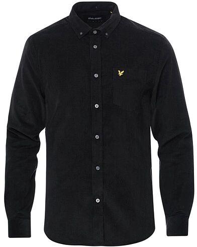 Lyle & Scott Corduroy Shirt Jet Black