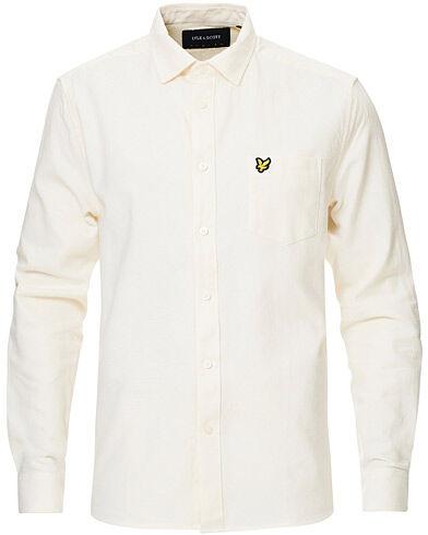 Lyle & Scott Brushed Twill Shirt Vanilla Ice
