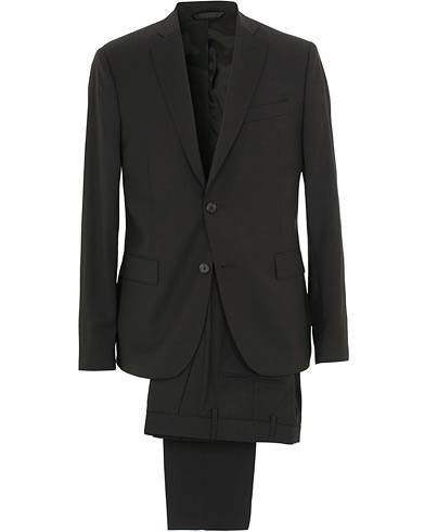J.Lindeberg Hopper Soft Comfort Wool Suit Black
